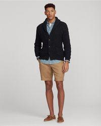 Polo Ralph Lauren Aran-knit Cotton-blend Shawl Cardigan - Multicolour