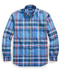 Ralph Lauren Plaid Oxford Shirt - Blue