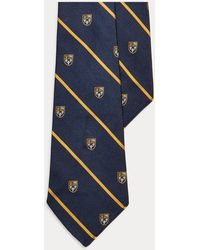 Polo Ralph Lauren Silk Foulard Narrow Tie - Size One Size - Blue