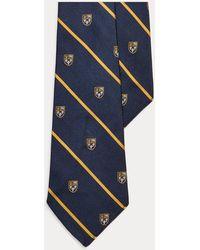 Polo Ralph Lauren Cravate étroite en soie - Bleu