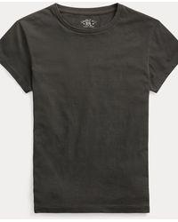 RRL Cotton Jersey Crewneck T-shirt - Black