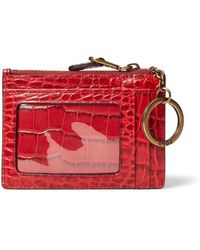 Polo Ralph Lauren Crocodile-print Card Case - Red