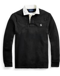 Polo Ralph Lauren Chemise de rugby ajustée polaire - Noir