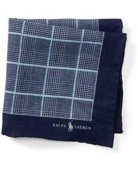 Polo Ralph Lauren - Plaid Linen Pocket Square - Lyst