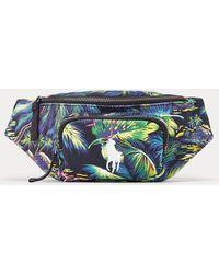 Polo Ralph Lauren Marsupio in tela motivo tropicale - Verde