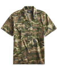 8bb69147 RRL - Camo Cotton Ripstop Camp Shirt - Lyst