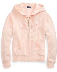 Ralph Lauren - Pink Pony Fleece Zip Hoodie - Lyst