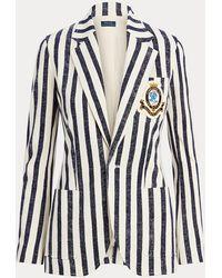 Polo Ralph Lauren Blazer De Algodón A Rayas - Azul