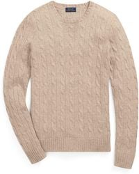 Polo Ralph Lauren - Cable-knit Cashmere Sweater - Lyst