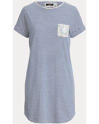 Ralph Lauren Camisa De Pijama De Mezcla De Algodón - Azul