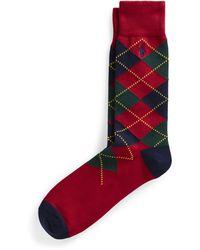 Ralph Lauren Argyle Trouser Socks - Red