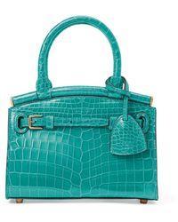 Ralph Lauren Alligator Mini Rl50 Handbag - Blue
