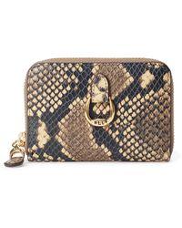 Ralph Lauren Leather Small Zip Wallet - Multicolour