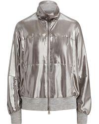 Ralph Lauren - Loka Metallic Foil Jacket - Lyst