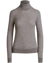 Ralph Lauren Collection Ralph Lauren Cashmere Turtleneck Sweater - Gray