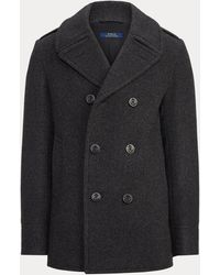 Polo Ralph Lauren Polo Wool-blend Melton Peacoat - Grey