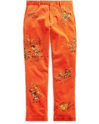 Ralph Lauren Stretch Classic Fit Pant - Orange