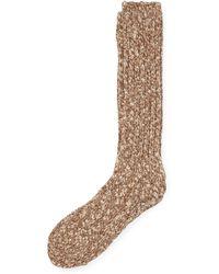 Ralph Lauren Cotton-blend Ragg Crew Socks - Brown
