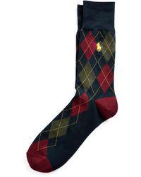 Polo Ralph Lauren - Chaussettes habillées à motif argyle - Lyst