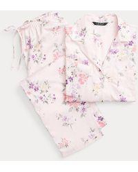 Ralph Lauren Pigiama in rasatello di cotone a fiori - Rosa