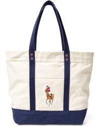 Ralph Lauren - Big Pony Canvas Tote - Lyst
