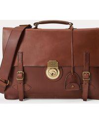Polo Ralph Lauren Aktentasche aus weichem Leder - Braun
