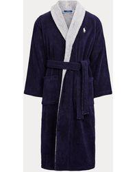 Polo Ralph Lauren Bademantel aus Baumwoll-Terry - Blau