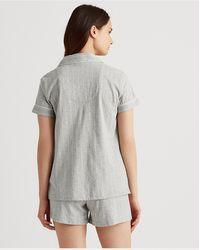 Ralph Lauren Conjunto De Pijama Con Bóxer De Rayas - Gris