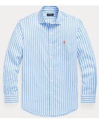 Polo Ralph Lauren Chemise cintrée rayée en popeline - Bleu