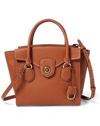 Ralph Lauren - Pebbled Leather Medium Satchel - Lyst