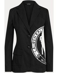 Ralph Lauren Blazer in tela di cotone stretch - Nero