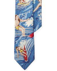 Polo Ralph Lauren   Surfer-print Linen Narrow Tie   Lyst