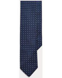 Polo Ralph Lauren Cravate étroite à pois reps de soie - Bleu