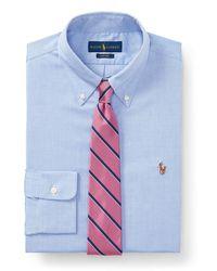 Polo Ralph Lauren Chemise Oxford coupe ajustée - Bleu