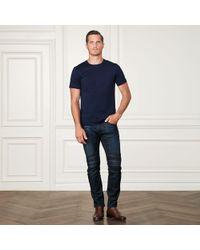 Ralph Lauren Purple Label - Cotton Lisle T-shirt - Lyst
