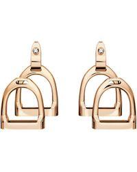 Ralph Lauren Rose Gold Double-stirrup Earrings - Metallic