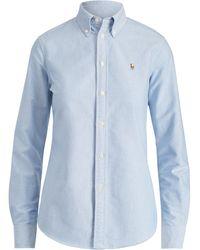 Polo Ralph Lauren Custom Fit Cotton Oxford Shirt - Blue