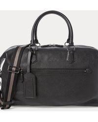 Polo Ralph Lauren Pebbled Leather Duffel - Black