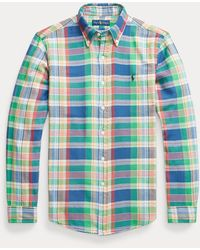 Polo Ralph Lauren - Camisa Custom Fit A Cuadros - Lyst