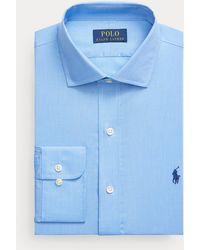 Polo Ralph Lauren Camisa De Popelina Custom Fit - Azul