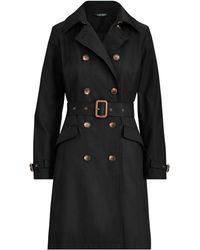 Lauren by Ralph Lauren Trench-coat en coton mélangé - Noir