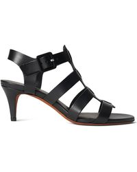 Ralph Lauren Vachetta Leather Sandal - Black
