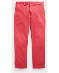 Polo Ralph Lauren Pantalón De Sarga Straight Tapered Fit - Rojo