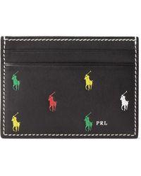 Polo Ralph Lauren Leather Pony Card Case - Black