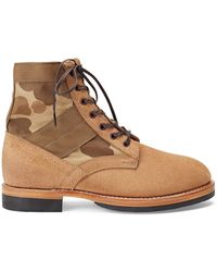 RRL - Camo Canvas-suede Boot - Lyst