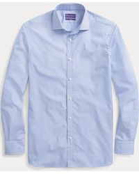 Ralph Lauren Purple Label Mini-gingham Shirt - Blue