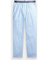 Polo Ralph Lauren Pantaloni da pigiama in cotone a righe - Blu