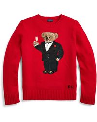 Ralph Lauren Polo Bear Wool-blend Sweater - Red