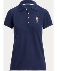 Ralph Lauren Golf Polo Deportivo Polo Bear Tailored Fit - Azul