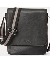 Polo Ralph Lauren Pebbled Leather Flight Bag - Black